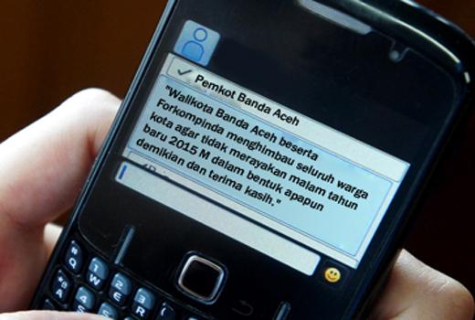 Walikota Banda Aceh Sebar 10 Ribu SMS Larangan Perayaan Tahun Baru