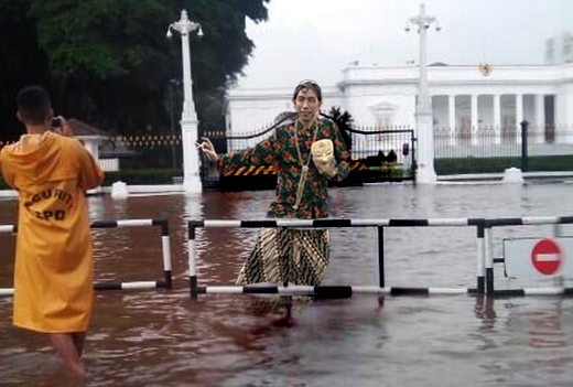 Dulu Jokowi Sesumbar Mudah Atasi Banjir, Sekarang Istana Negara Kebanjiran – Panjimas