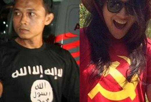 Tukang Es Pakai Kaos ISIS Ditangkap tapi Puteri Indonesia Pakai Kaos Komunis Dibela, Itulah Indonesia!