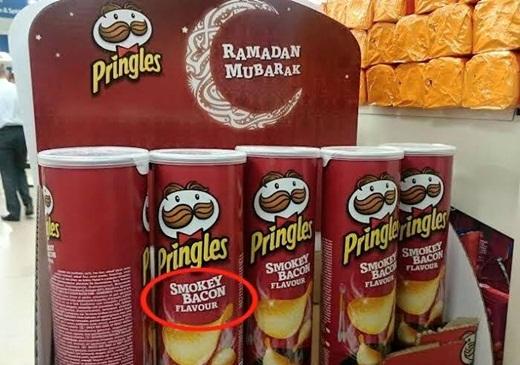 Waspadalah!! Ada Makanan Rasa Kentang Pringles Berlabel Ramadhan Mubarok, Tapi Mengandung Daging Babi