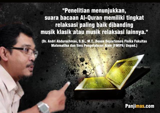 Subhanallah, Penelitian Dosen UNPAD: Bacaan Al-Qur'an Relaksasi Paling Baik dari Musik Klasik