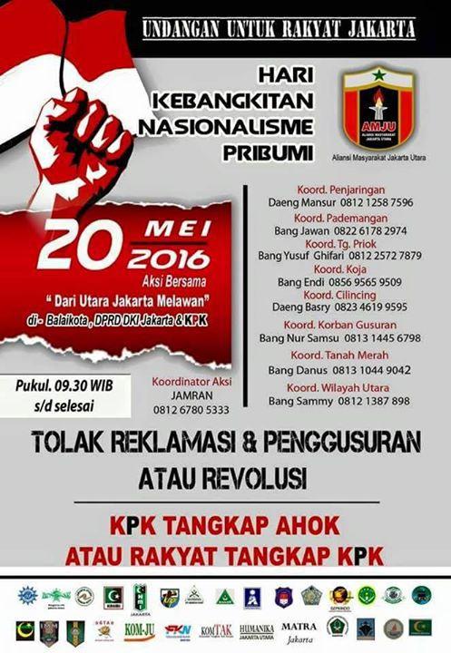 Kebangkitan Nasional: Rakyat Jakarta Akan Kepung DPRD dan KPK