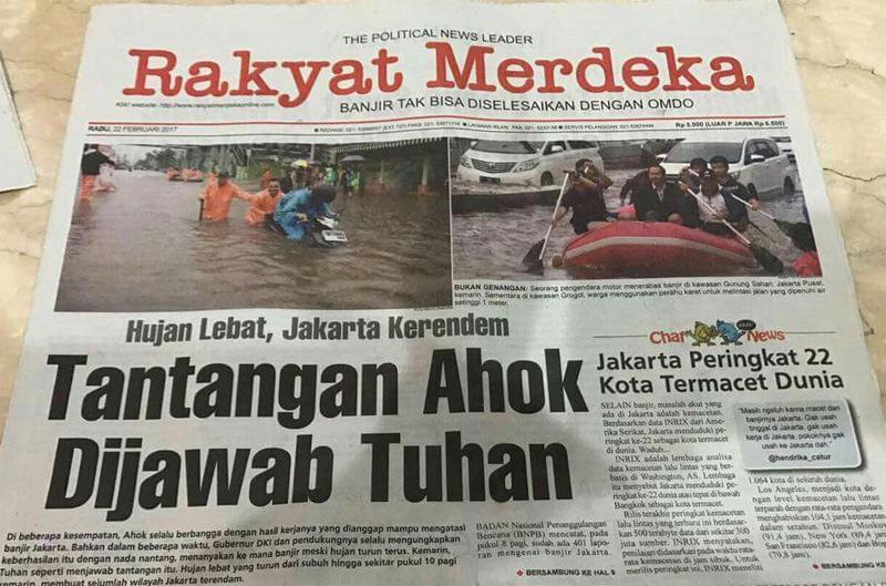 Image result for ahok nantang tuhan hujan hidayatbagdja