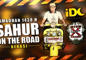 Serunya Sahur On The Road IDC Bareng Vespa Club