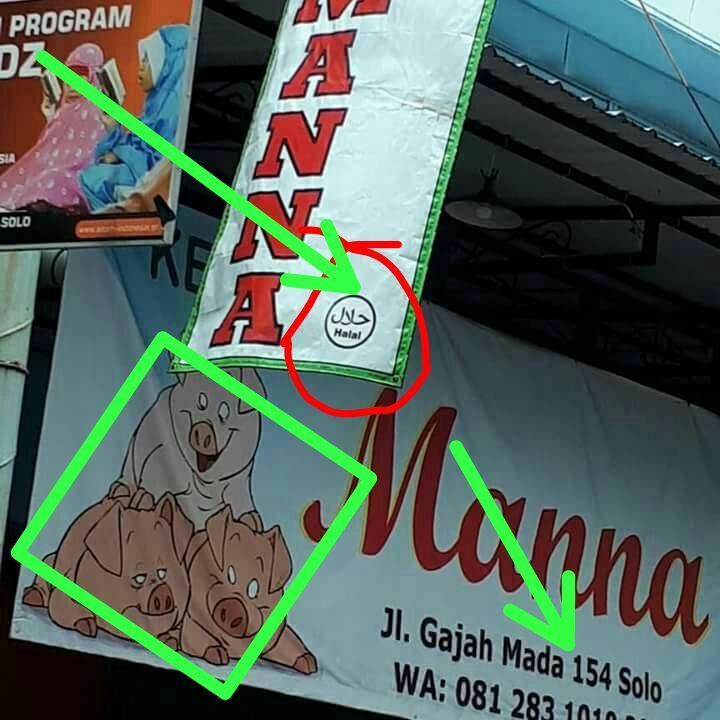 Spanduk Rumah Makan Babi Berlogo Halal Akhirnya Dicopot Pemilik Minta Maaf
